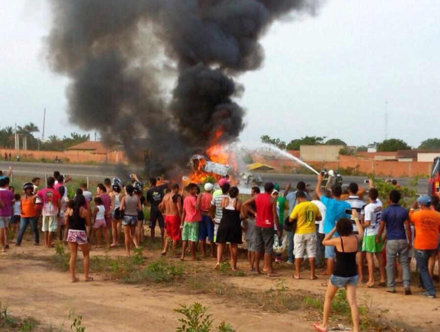 3 Avião cai, explode e uma pessoa morre carbonizada em Balsas
