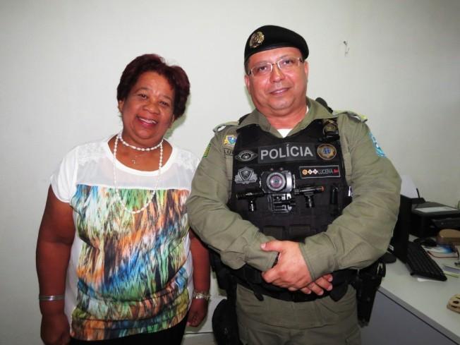 A delegada Vilma Alves e o major Lucena buscaram entendimento comum no combate ao crime.