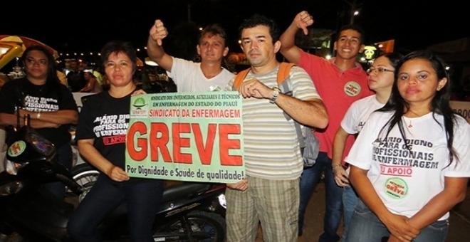 Enfermagem da Rede Estadual entram em greve pela GIMAS
