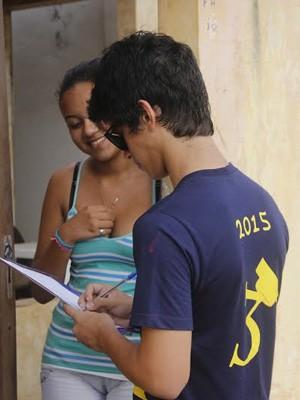 Alunos fizeram uma análise da população de Tutoia (Foto: Divulgação/ Colégio Marista Araçagy)