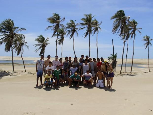 Alunos do 1º ano do Ensino Médio aprendem na prática (Foto: Divulgação/ Colégio Marista Araçagy)
