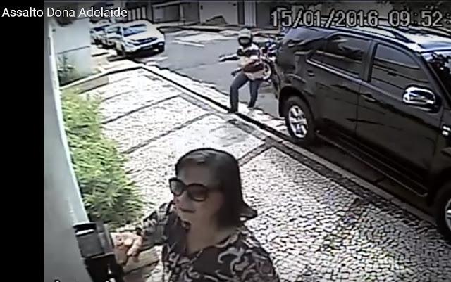 Esposa do empresário Toureiro é assaltada; Veja o vídeo do momento do assalto!