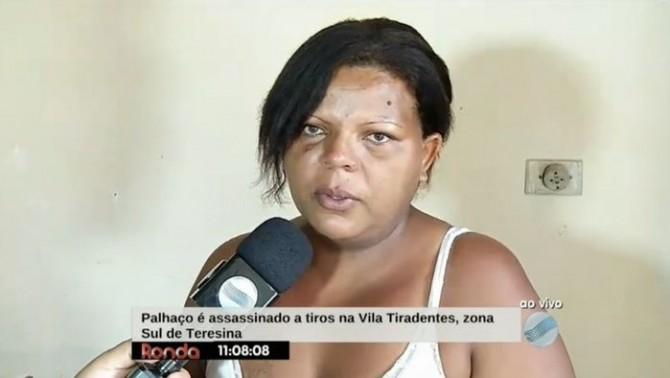 Esposa de palhaço fala sobre o crime (Crédito: Reprodução/TV Meio Norte)