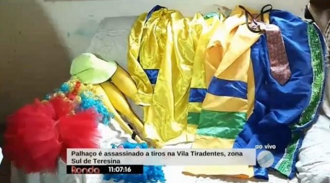 Roupas da vítima (Crédito: Reprodução/TV Meio Norte)