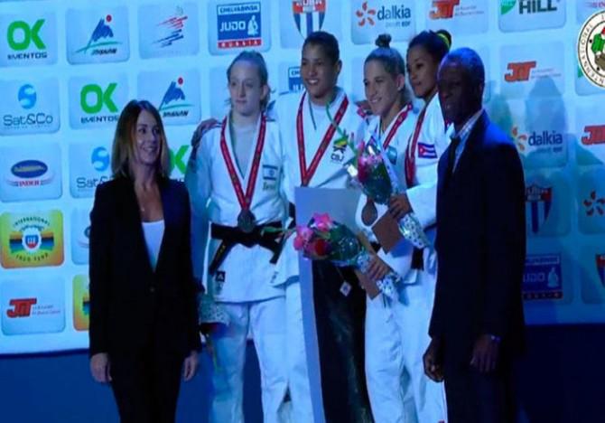 Sarah conquistou ouro em Havana (Crédito: Reprodução)