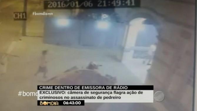 Câmeras flagraram ação dos criminosos (Crédito: Reprodução/ TV Meio Norte)