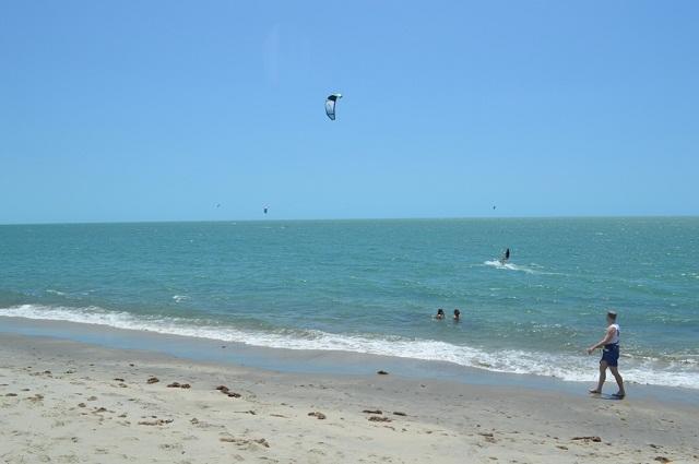 Prática do kitesurf em Barra Grande  Foto: Misael Martins