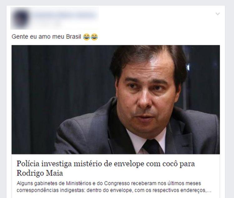 Polícia Legislativa investiga envio de envelope com cocô a Rodrigo Maia? É verdade!