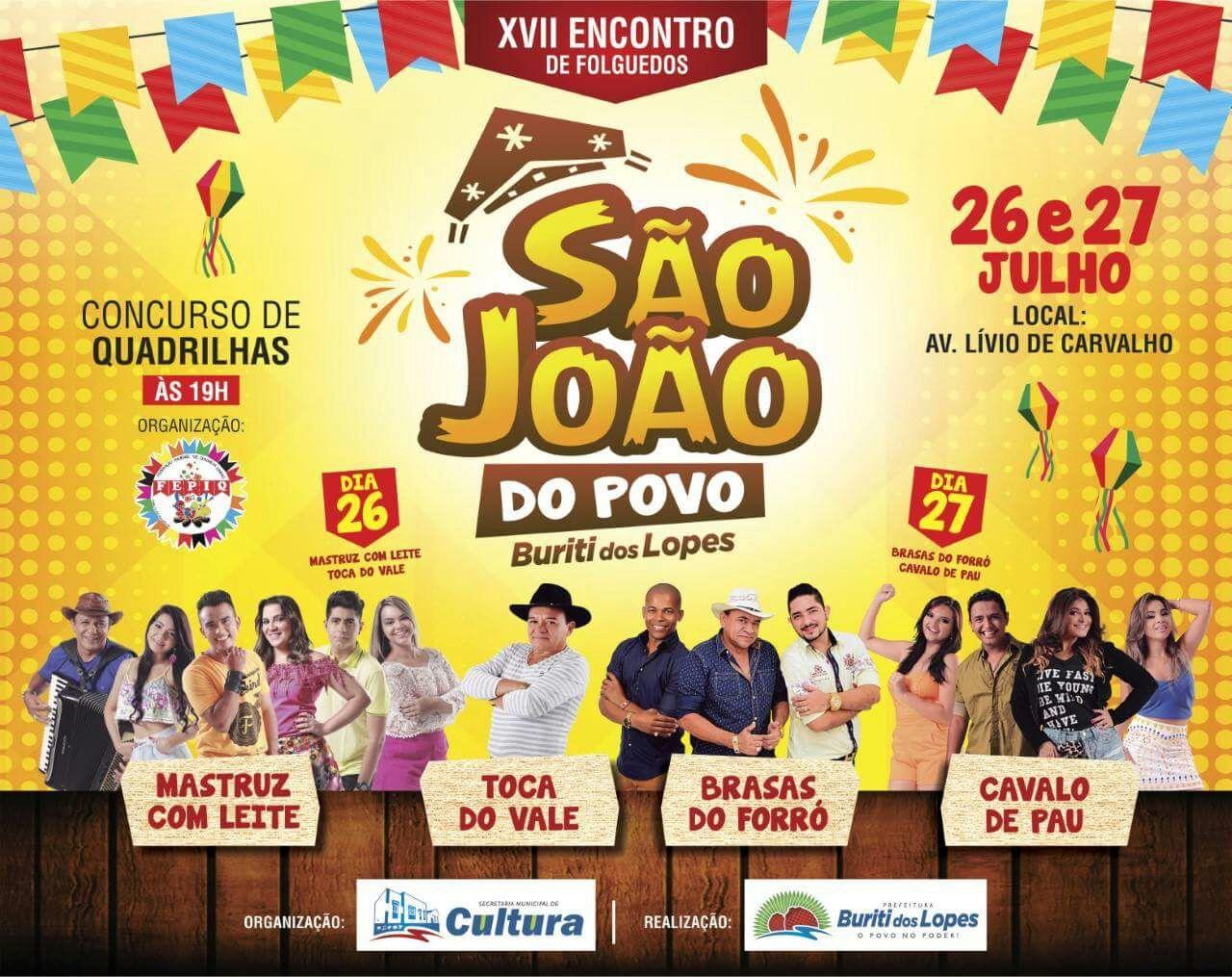 Prefeitura de Buriti dos Lopes realizará o maior Encontro de Folguedos da História; Confira a programação