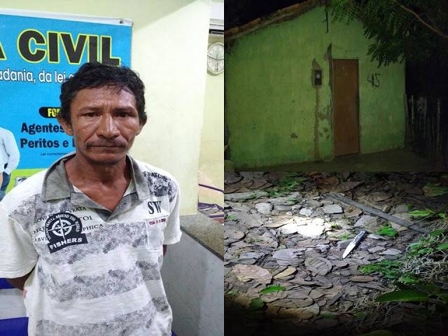 Homem mata padrasto com facada no tórax no povoado Barra do Longa, em Buriti dos Lopes