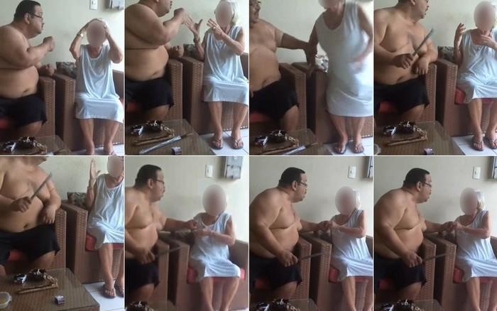 Homem flagrado agredindo a mãe idosa é condenado a 10 anos