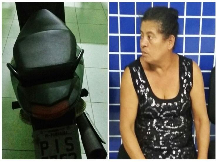 Mulher é presa por receptação de moto roubada