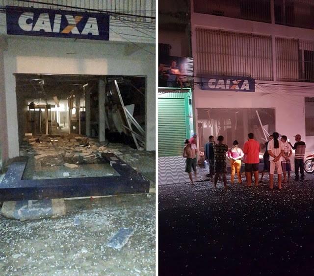 Bando armado faz reféns e explodem três agências bancarias em Cocal