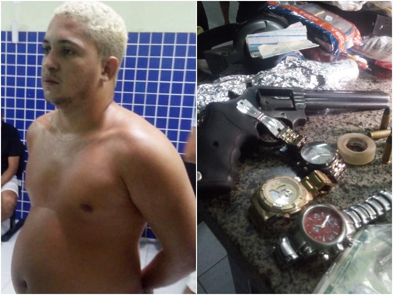 Homem é preso com drogas e arma na Operação Parnaíba Segura