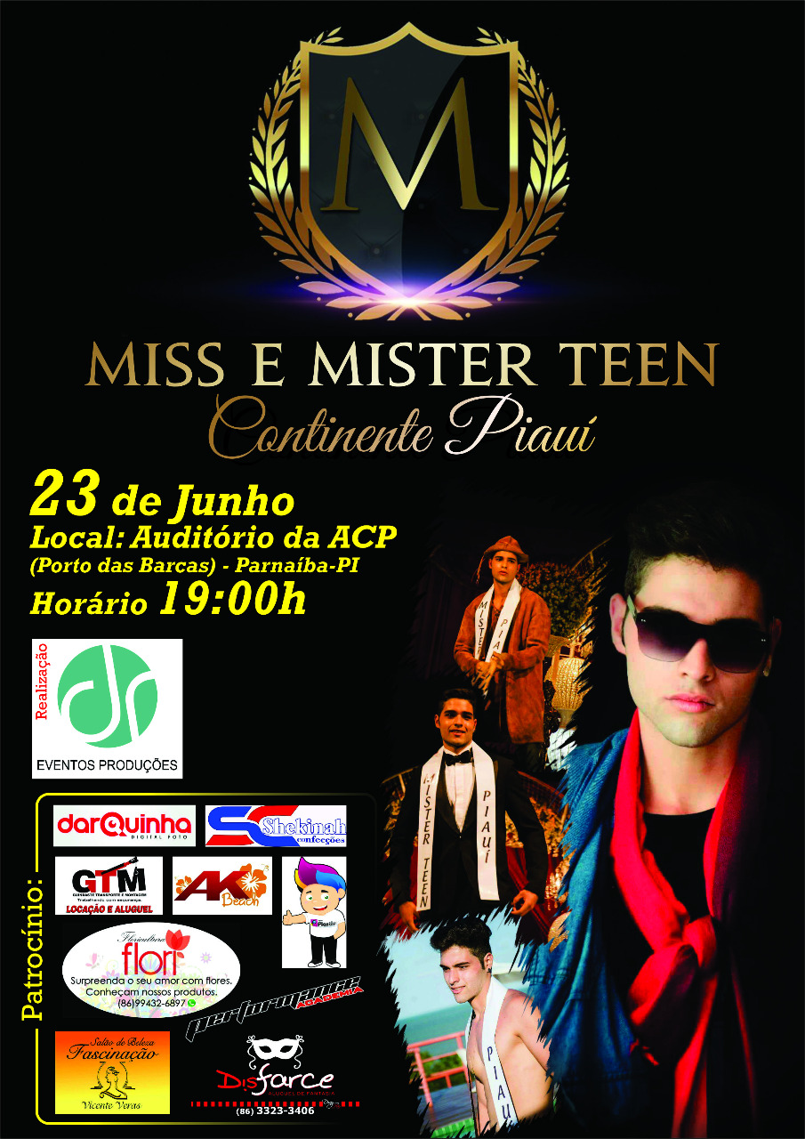Concurso Miss e Mister Teen Continente Piaui 2018