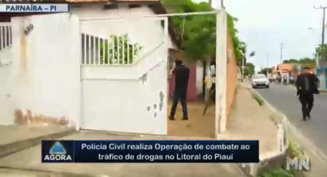 Em operação, polícia encontra droga enterrada em residência de Parnaíba