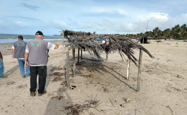 Justiça Federal determina demolição de barracas irregulares na Praia do Coqueiro