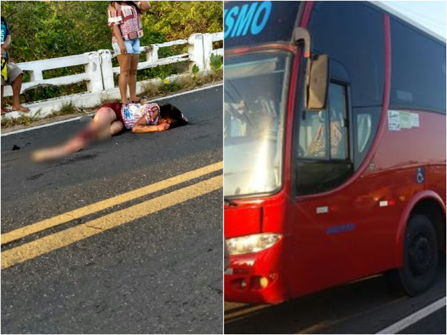 Jovem de 28 anos morre após ter perna esmagada por ônibus de turismo na ponte sobre o Rio Portinho, em Luís Correia