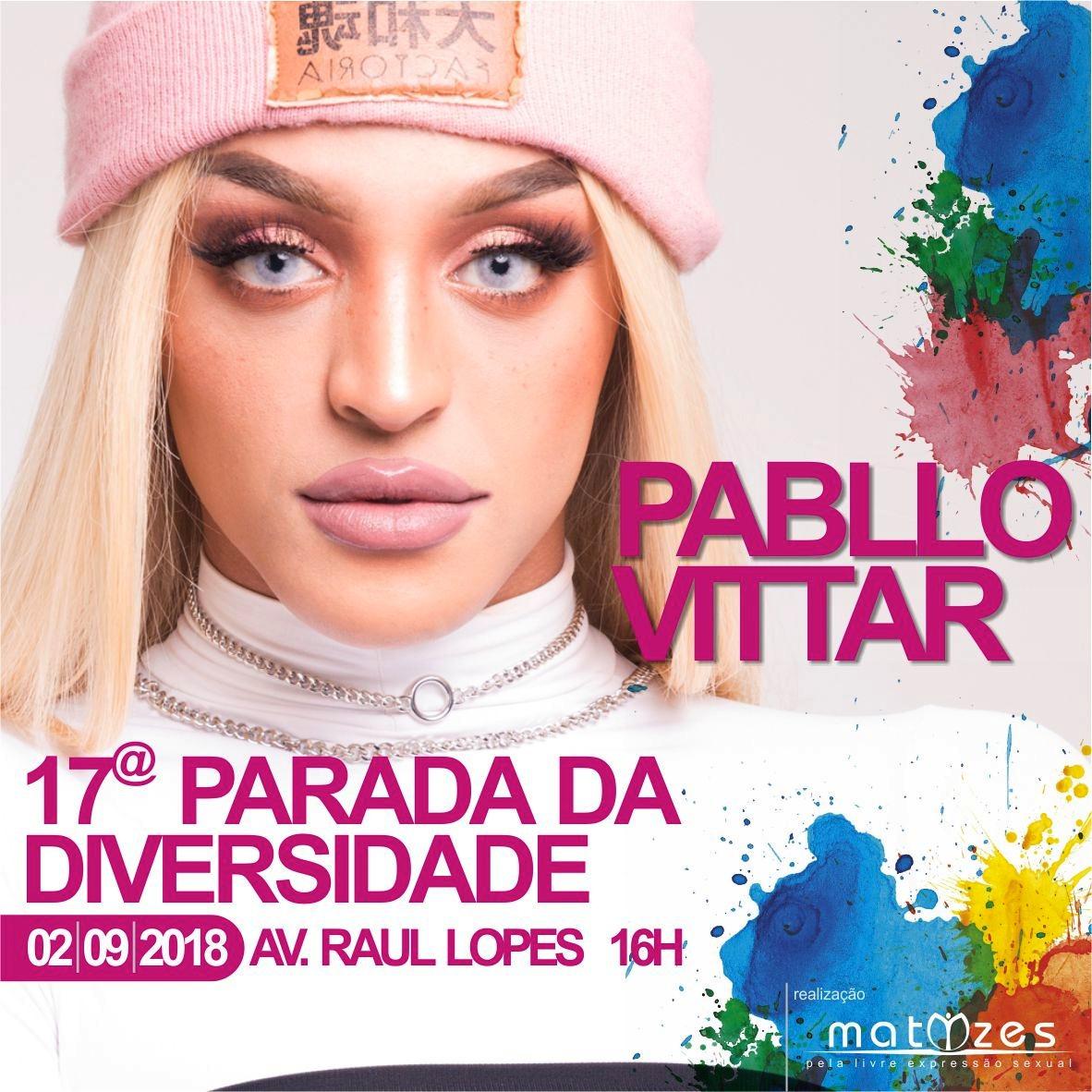 Pablo Vittar será atração na Parada da Diversidade em Teresina