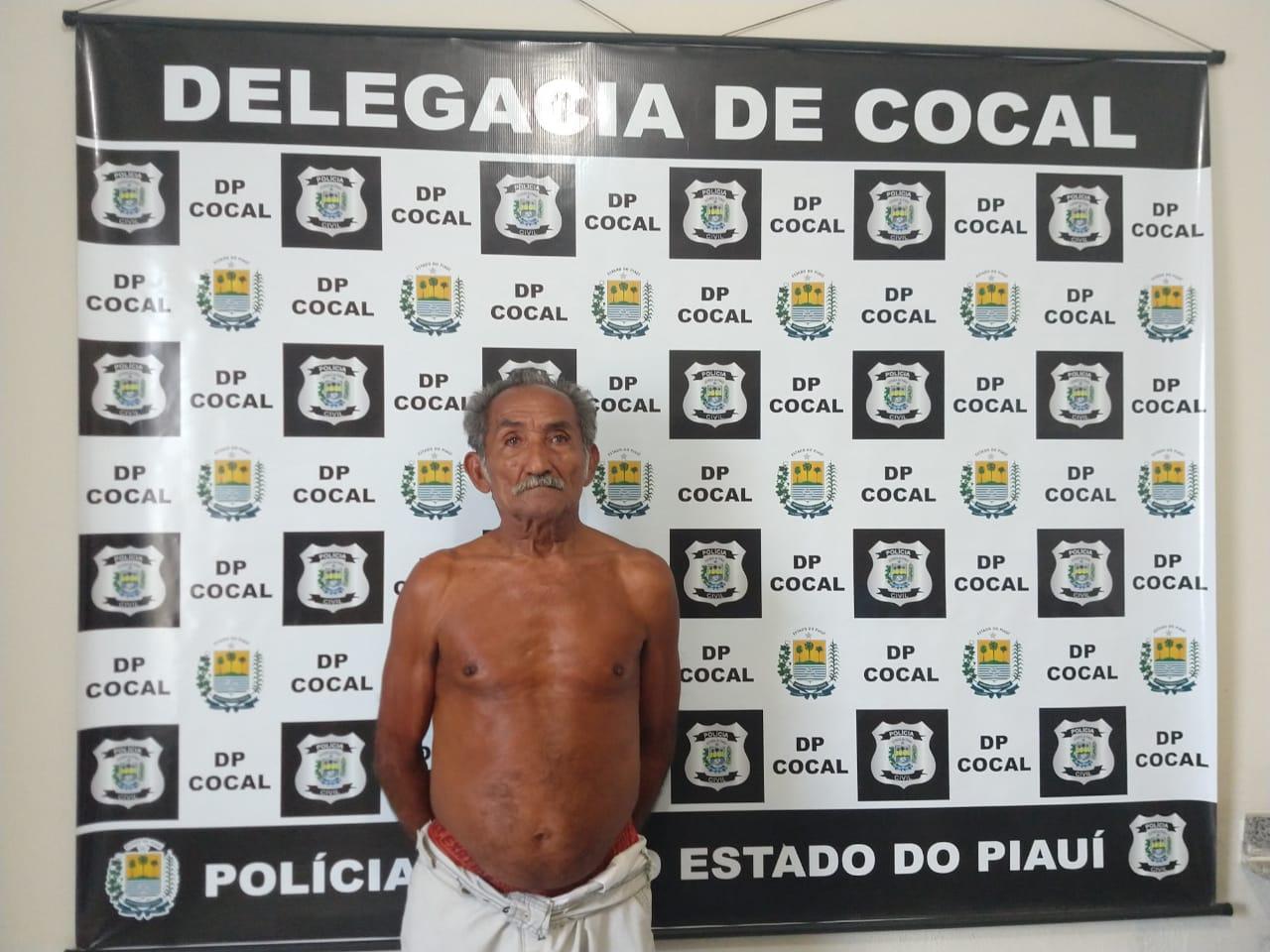 Idoso de 82 anos é preso acusado de estuprar duas bisnetas na cidade de Cocal