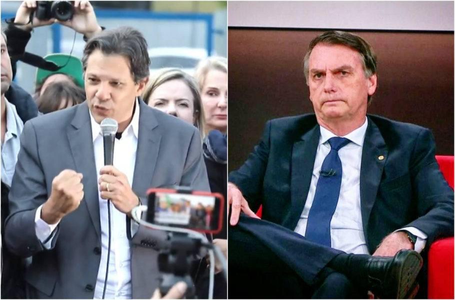 Ibope: Bolsonaro aparece com 57% dos votos válidos, e Haddad, 43%