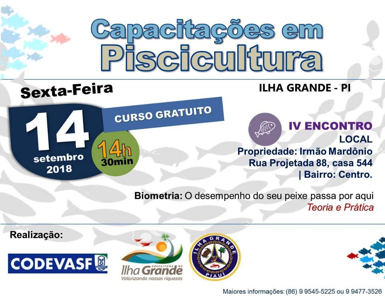 CODEVASF realiza a 4ª capacitação na área da Piscicultura no município de Ilha Grande