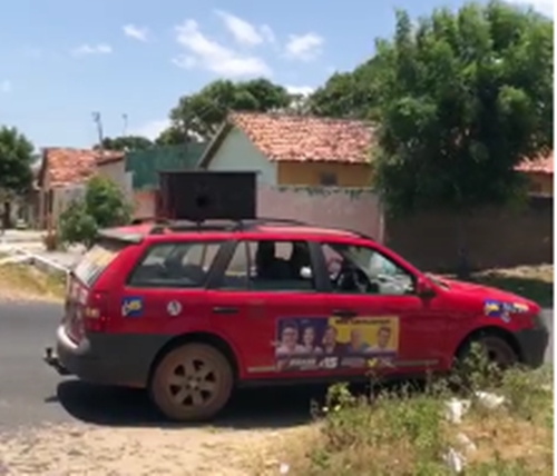 ATENÇÃO JUSTIÇA ELEITORAL: Driblando as regras eleitorais, carro de som de Luciano Nunes e Cassandra Moraes Sousa faz propaganda irregular em Parnaíba. Confira o vídeo!