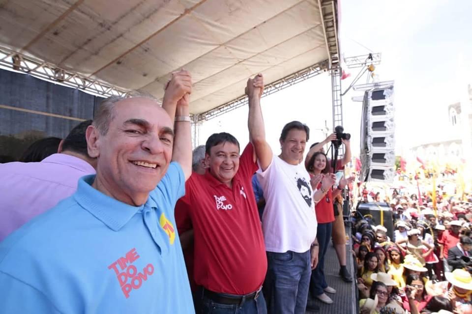Ao participar de comício com Haddad em Juazeiro e Petrolina, Wellington diz que o Piauí todo vota no 13