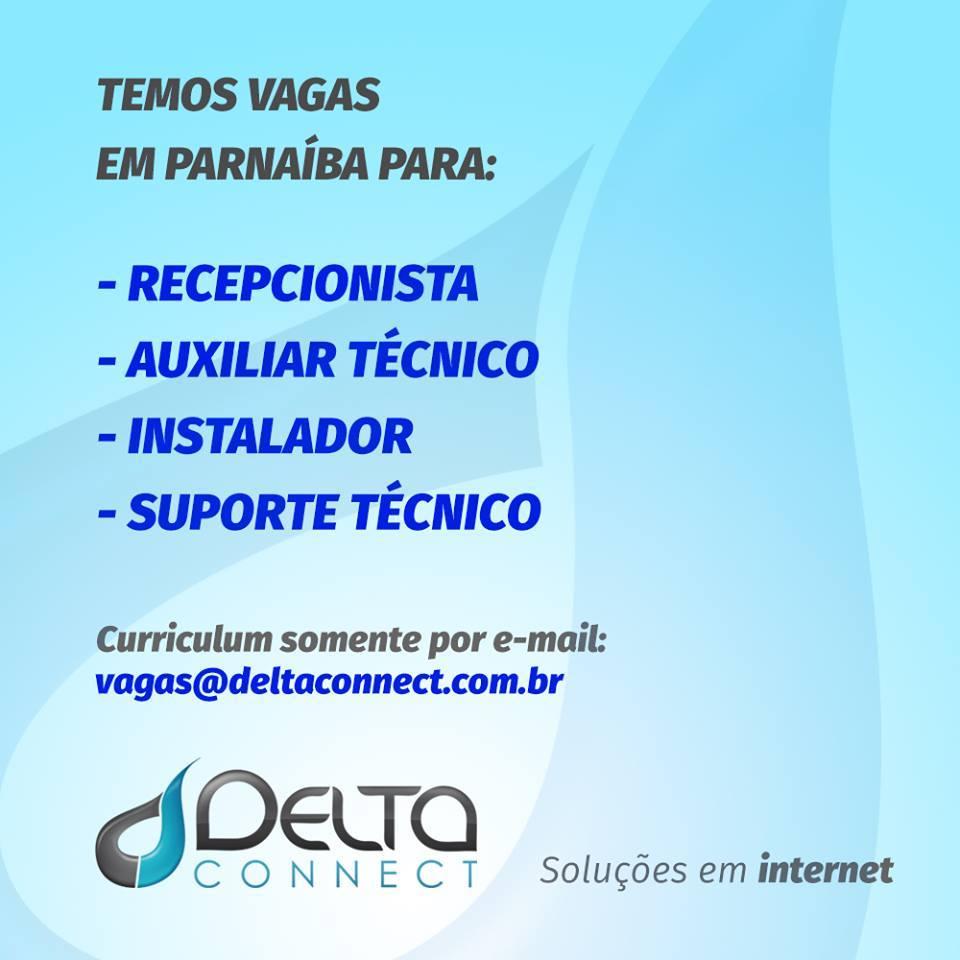 VAGA DE EMPREGO: Delta Connect seleciona profissionais de diferentes perfis em Parnaíba