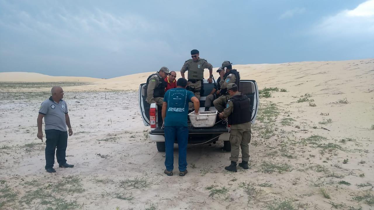 Corpo de homem em estado de decomposição é encontrado nas dunas da Lagoa do Portinho