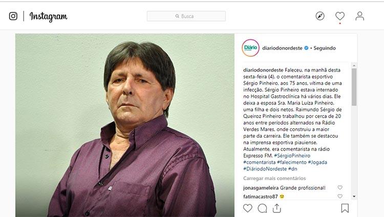Morre o comentarista esportivo Sérgio Pinheiro aos 75 anos