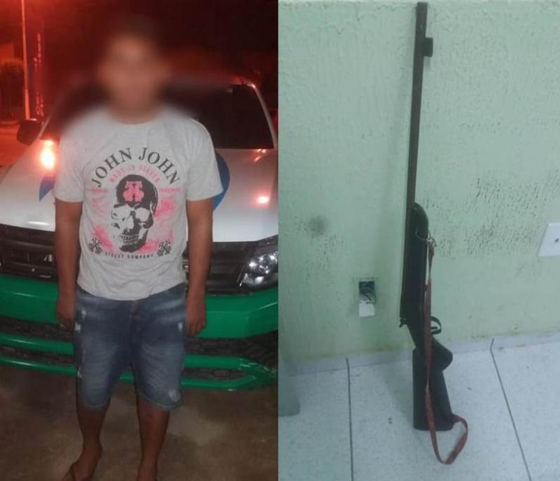 Jovem é preso após ameaçar matar adolescente em Buriti dos Lopes