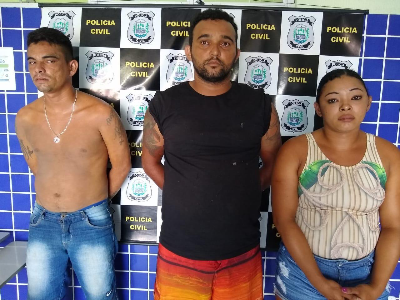 Três pessoas da mesma família são presas por tráfico em Parnaíba