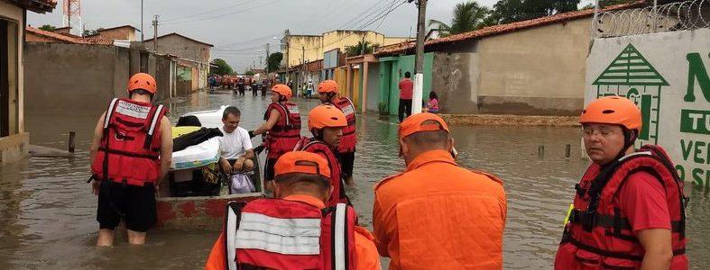 Mais de 150 famílias estão desabrigadas na cidade de Parnaíba após fortes chuvas