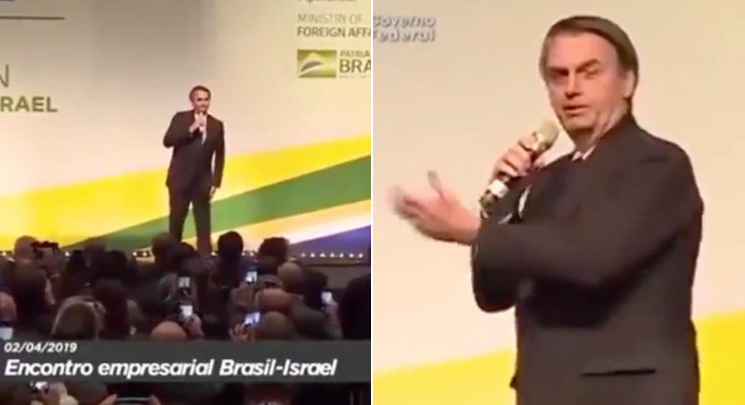 Em vídeo, Bolsonaro faz discurso sem sentido, aguarda aplausos e fica no vácuo