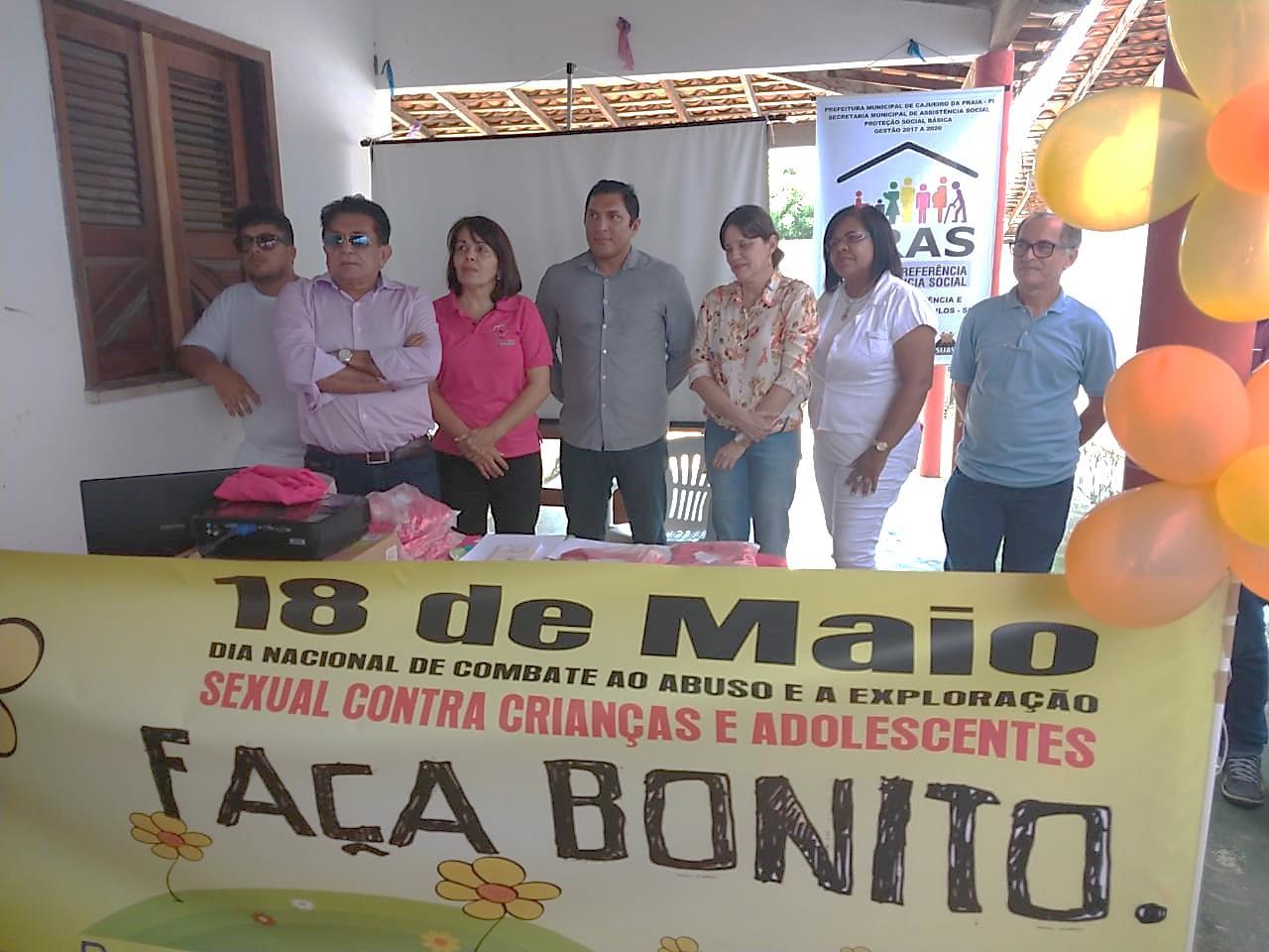 Cajueiro da Praia lança campanha para prevenção e enfrentamento a violência sexual contra crianças e adolescentes alusiva ao dia 18 de maio