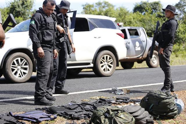 Assaltantes de banco trocam tiros com a PM e cinco morrem em Cocal