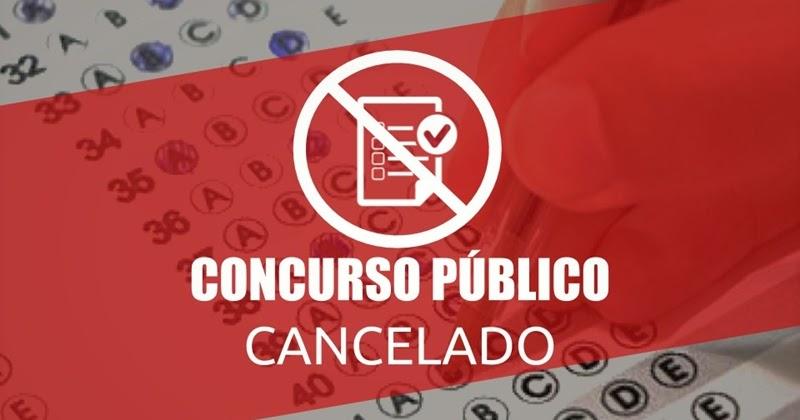 Prefeitura de Cocal comunica cancelamento de concurso público
