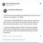 Bolsonaro se aliou a sujeira e hoje não passa de covarde e bufão
