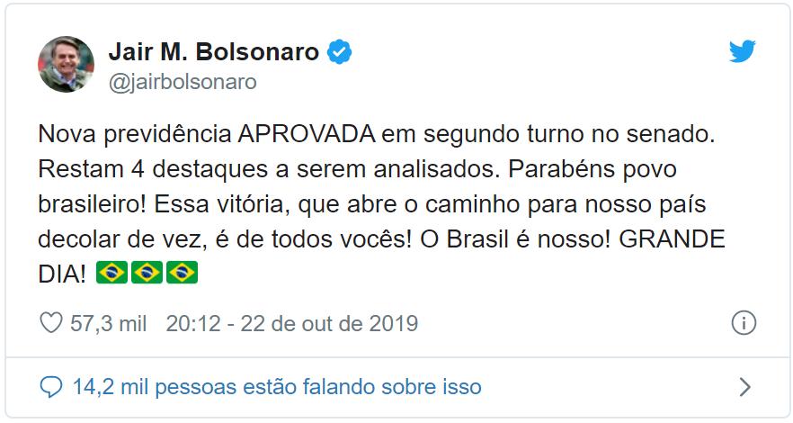 """Do Japão, Bolsonaro comemora o fim da aposentadoria do trabalhador: """"Grande dia"""""""