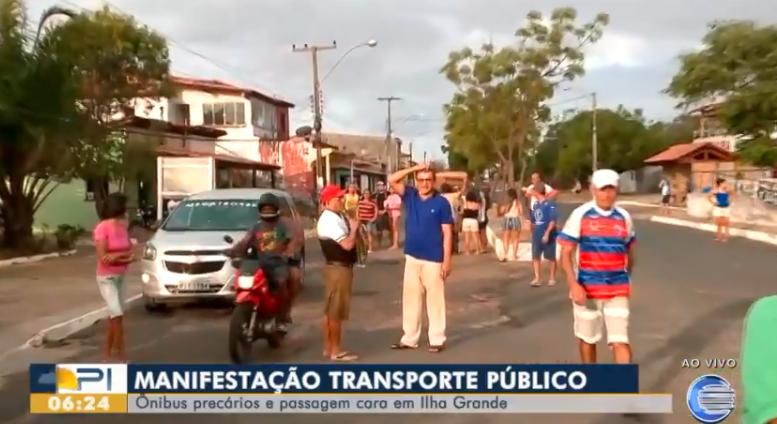 Moradores de Ilha Grande fazem manifestação contra má qualidade do transporte público