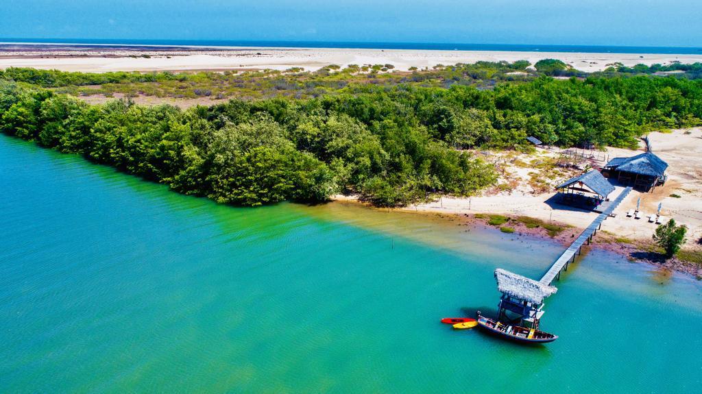 Paraíso para pratica de esportes aquáticos é descoberto na foz do Rio Igaraçu, município de Luís Correia