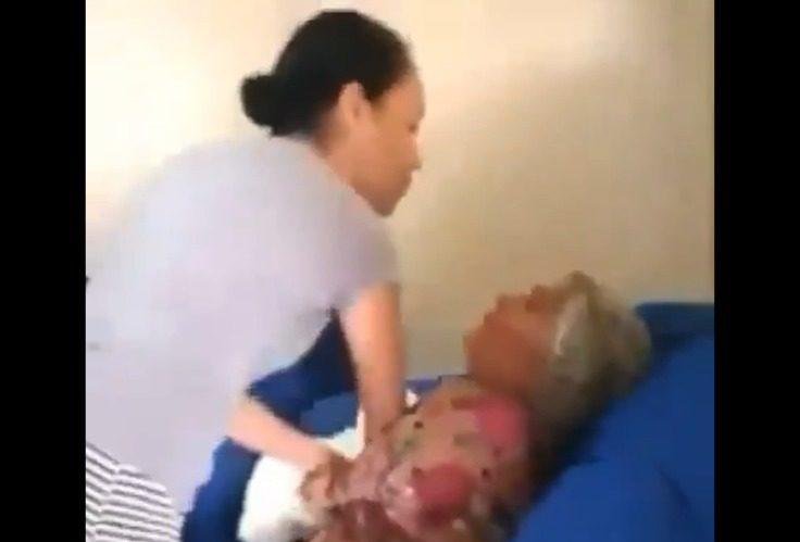 Vídeo: Pastora e cantora evangélica é flagrada batendo na sogra de 73 anos