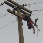Homem morre eletrocutado em poste ao tentar furtar fiação elétrica na cidade de Parnaíba