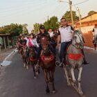 Lucas Moraes participa de tradicional cavalgada em Bom Principio do Piauí