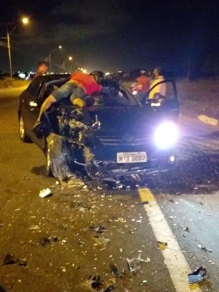 Colisão entre moto e carro deixa homem morto na BR 343 em Parnaíba