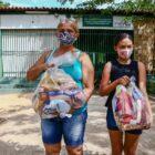 Alunos da rede estadual recebem kits alimentares