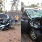 Médico morre e empresário fica ferido em colisão na entrada da Praia do Arrombado, em Luís Correia